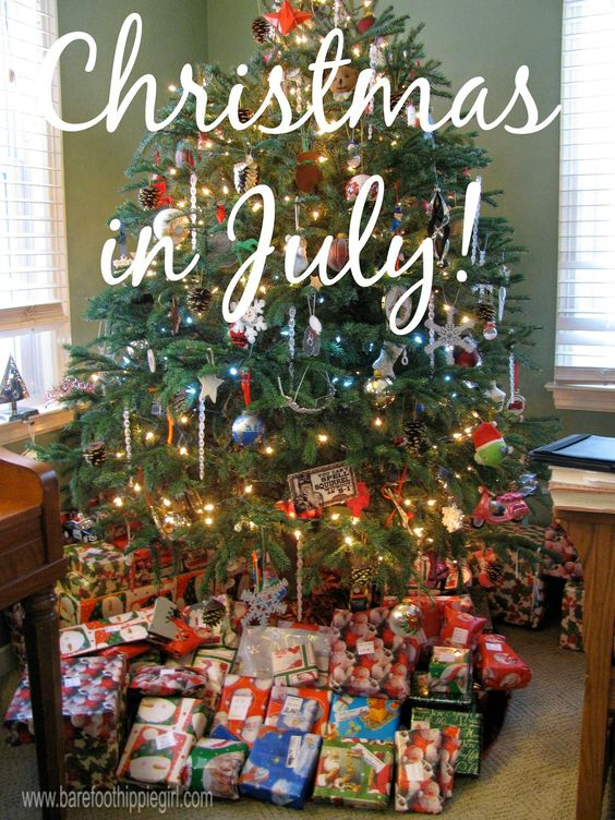 Barefoot Hippie Girl: Christmas in July: Long has the world fought the song of the angels. Heavenly music is drowned by a warring world; Yet hope burns a light, that shatters the night; Turn your heart to the call of glory!