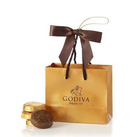 Gold Mini Shopping Bag Ornament