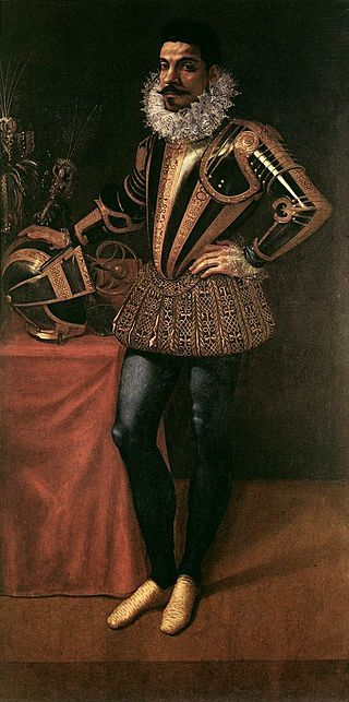 """""""Retrato do Field Marshal Lucio Foppa""""   (c. 1590). (by Giovanni Ambrogio Figino)."""