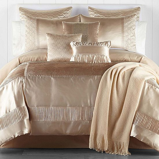 Jcpenney Home Adriana 10 Pc Embellished Satin Comforter Set