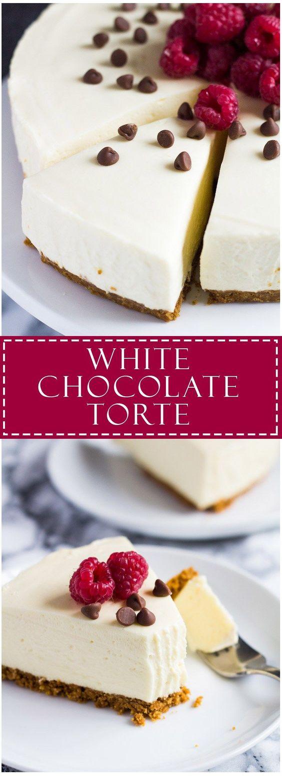 White Chocolate Torte recipe | Marsha's Baking Addiction - thos looks like a gorgeous dessert!