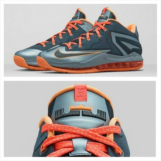 "Peep release info for the Nike LeBron 11 Low ""Magnet Grey"" on nicekicks.com."