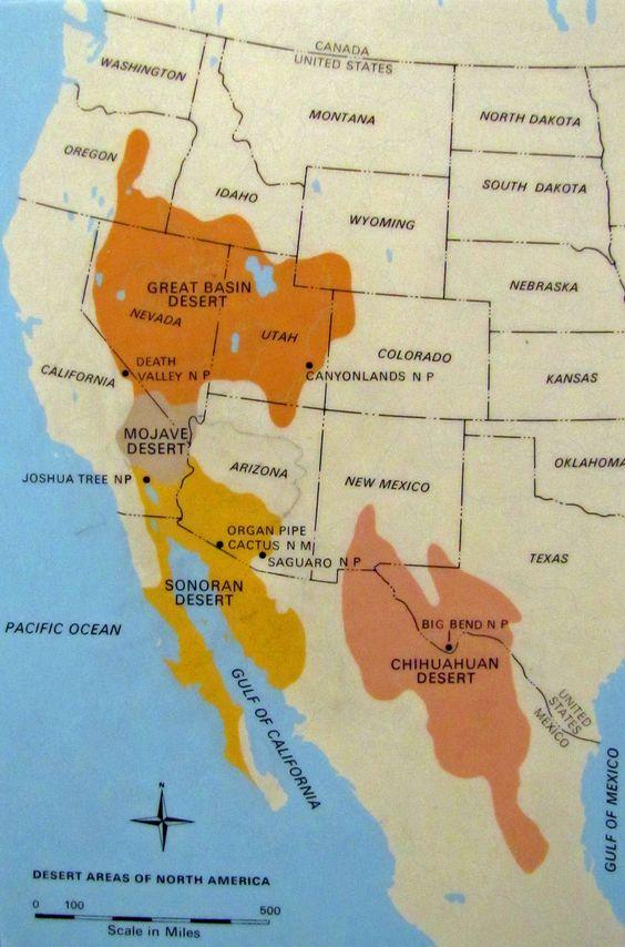 Sonoran Desert Map United States Social Studies Pinterest - Us map mojave desert