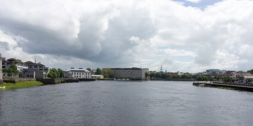 SARSFIELD HOUSE IN THE DISTANCE -  IS THIS THE MOST UGLY LIMERICK? IS IT MORE UGLY THAN HAWKINS HOUSE IN DUBLIN? [The Streets Of Ireland]
