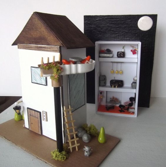 max bassets home away from home / recycled i phone box miniature