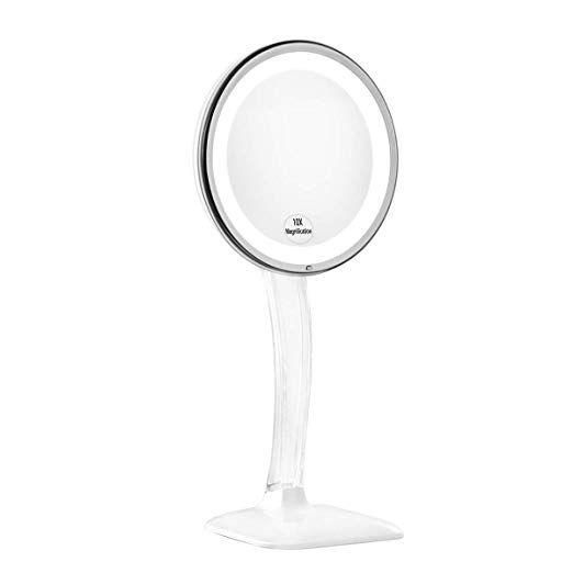 Kedsum Upgraded 10x Magnifying Lighted Makeup Mirror Desktop Vanity Mirror With Height 12 6 Makeup Mirror With Lights Mirror With Lights Magnification Mirror