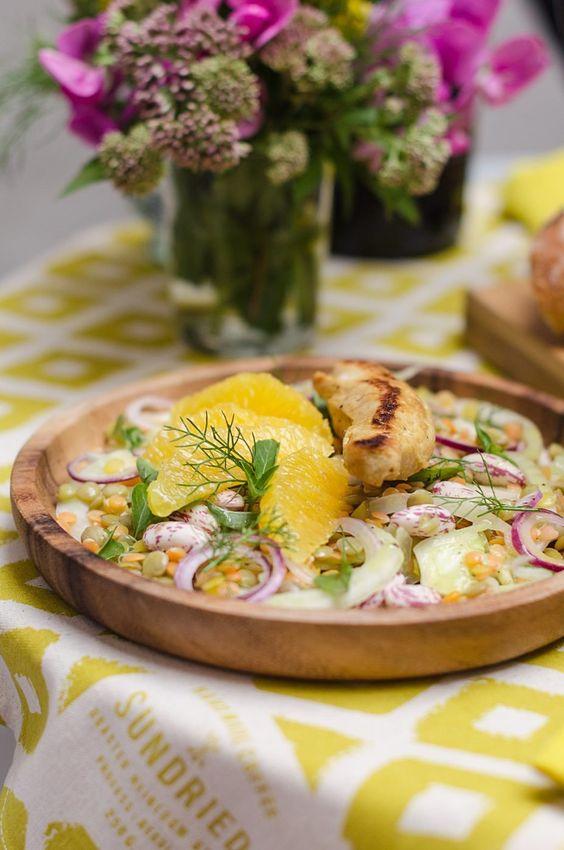 Lapin aux Lentilles - Kaninchen und Linsen dazu Fenchel, Orangen und Bohnen - von den [Foodistas]
