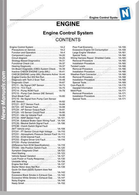 Isuzu 4hk1t Lg4hk We 0229dom Manual Engine System In 2020 Repair Manuals Repair Guide Manual