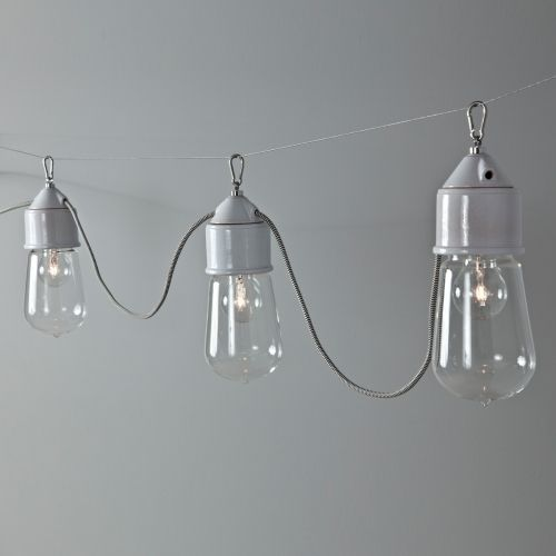 Suspension multiple ampoule sur c ble lampe de style industrielle id es maison pinterest - Lampe suspension industrielle ...