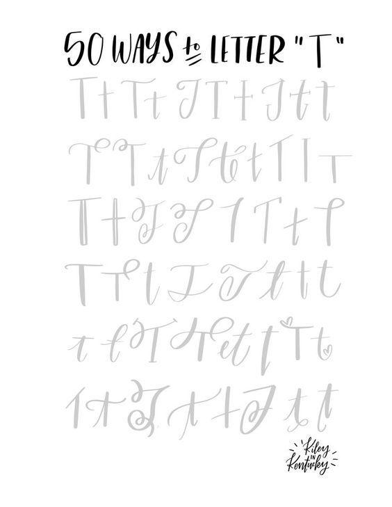 50 Moglichkeiten Den Buchstaben T Zu Lettern Lettering Alphabet Lettering Lettering Practice