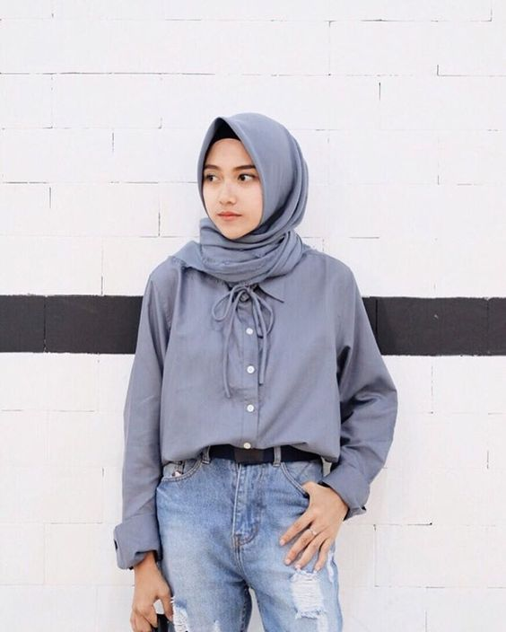 style hijab casual jeans