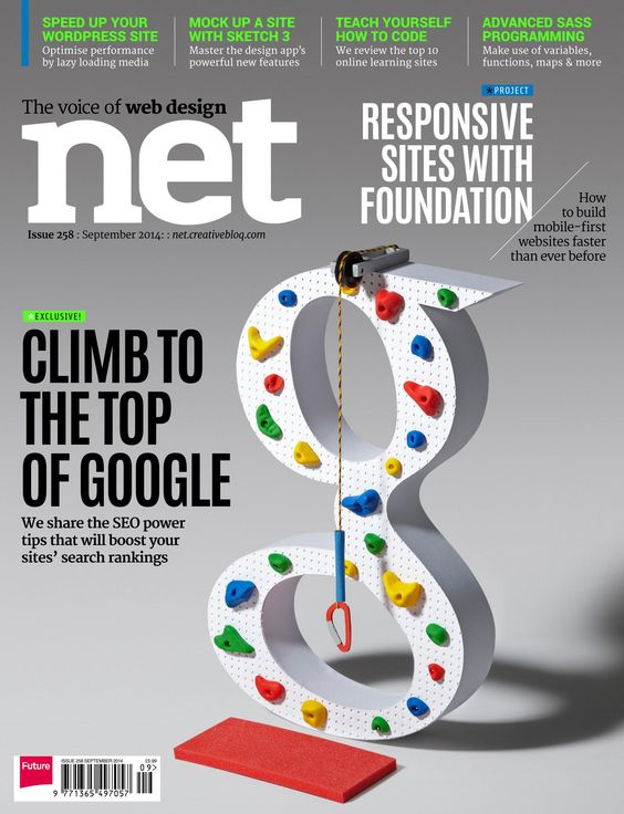 #Net Magazine 258. Climb to the top of #Google! We share the #SEO power tips that will boost your #site's search ranking.