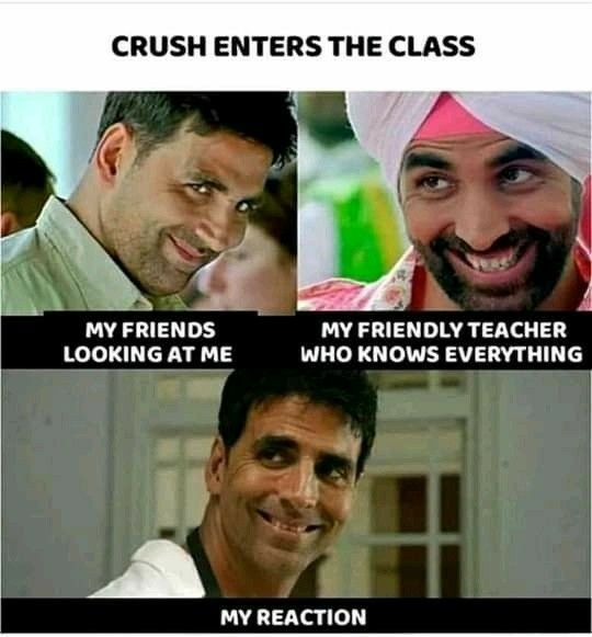 Crush Enter The Class In 2020 Very Funny Memes Funny Jokes In Hindi Latest Funny Jokes