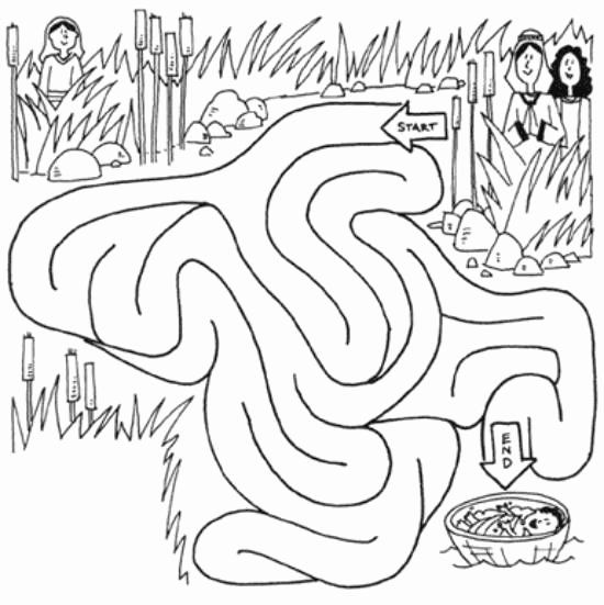 Coloring Pages For Baby Moses In The River