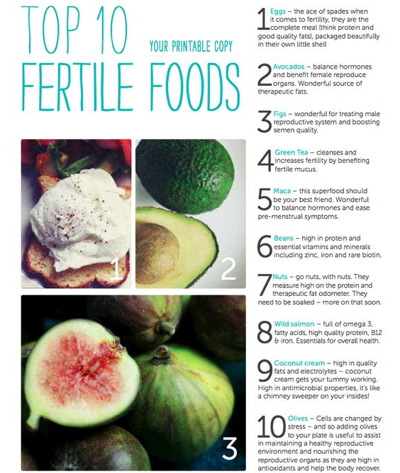 Small Victories and a Handy Fertility Food Printable