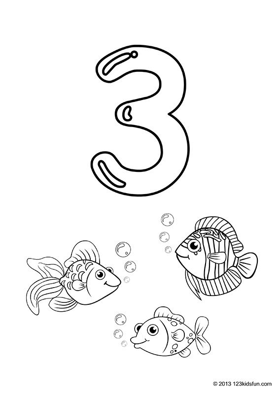 Free Printable Number Coloring Pages 1 10 For Kids 123 Kids Fun Apps Free Printable Numbers Numbers For Kids Printable Numbers