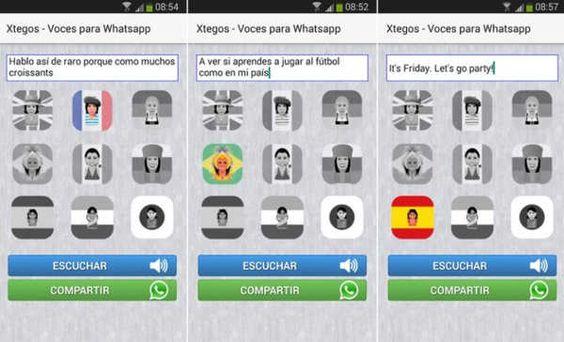 App del dia :Xtegos, divertidas voces para publicar mensajes de voz en WhatsApp