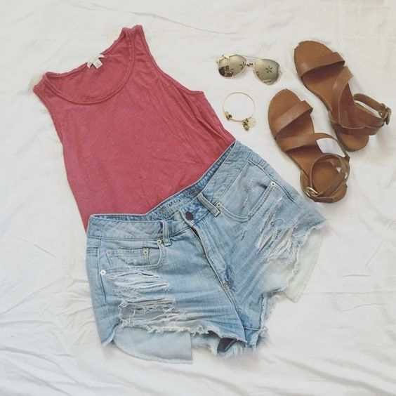 Rustic Maroon Tank Rustic Maroon Tank |  perfect for summer | versatile for many styles | worn but in great condition | GAP Tops Tank Tops