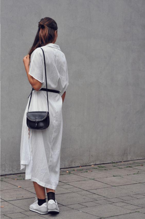 White dress & sneaker. www.monamiemaxie.com