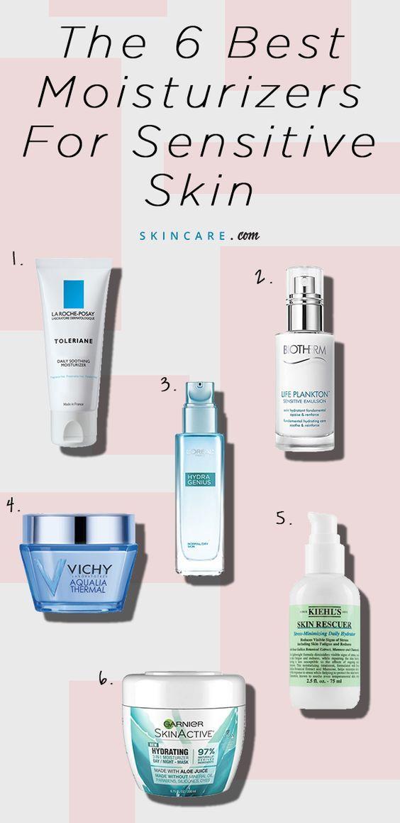 6 Best Moisturizers For Sensitive Skin Skincare Com By L Oreal Moisturizer For Sensitive Skin Sensitive Skin Care Best Moisturizer