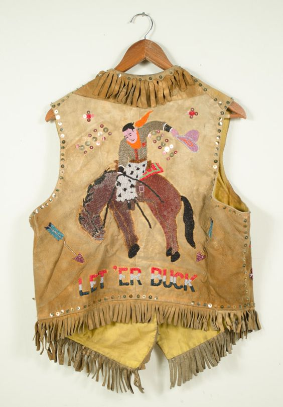 native american beaded buckskin vest peoples of the inland columbia