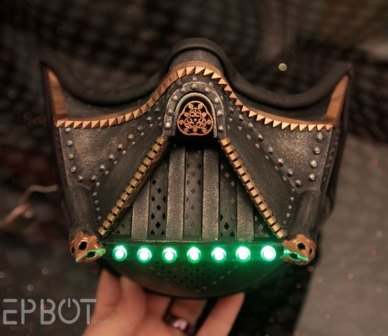 Steampunk Darth Vader mask  (Process pics at link)