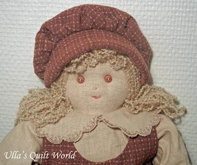 Ulla's Quilt World: Quilted doll - free pattern