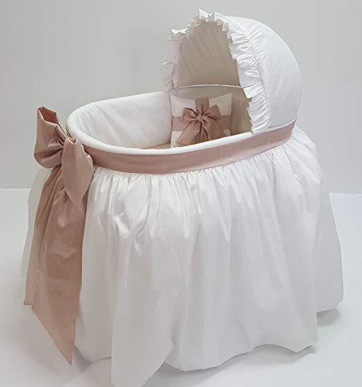 Heirloom Corp Sweet Angel Fancy Baby Bassinet Combo White Blush