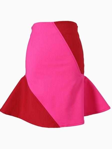 Pencil Skirt With Frill Hem