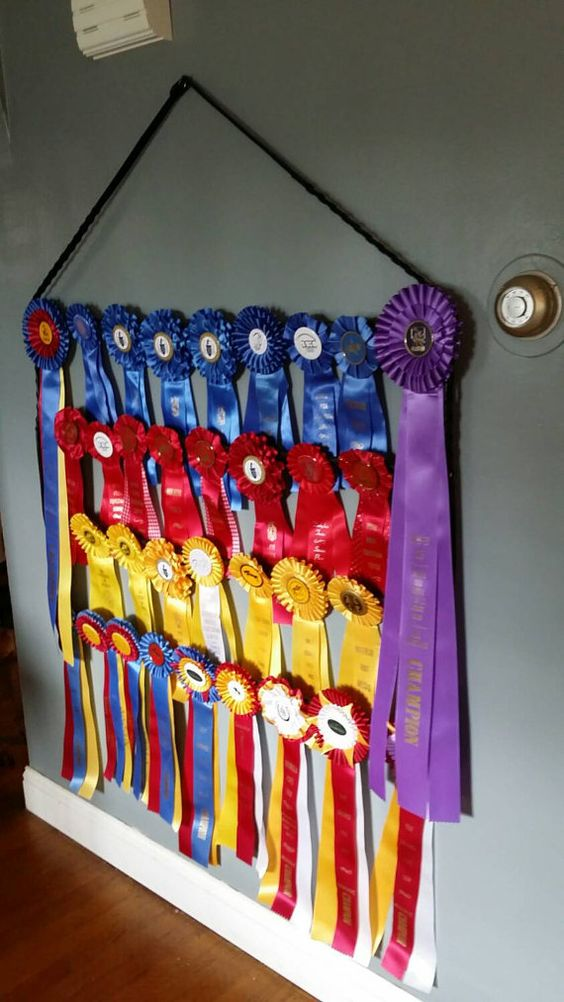 Check out this item in my Etsy shop https://www.etsy.com/listing/240987913/equestrian-ribbon-holder-display-rack