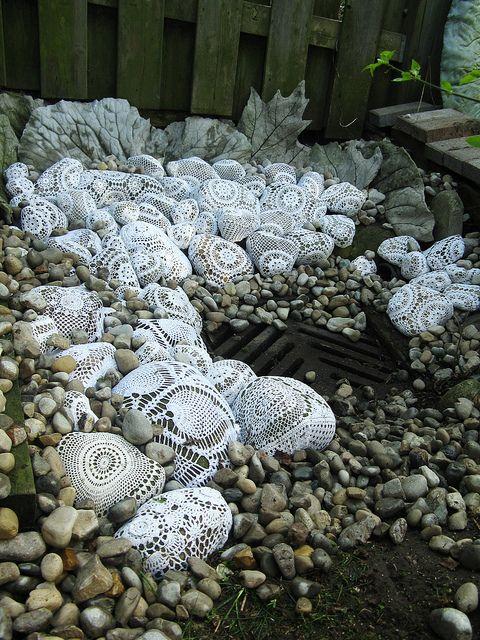 Galets pour la déco du jardin: