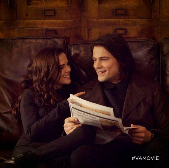 Rose (Zoey Deutch) and Dimitri (Danila Koslovsky) flirt in the Vampire Academy movie: