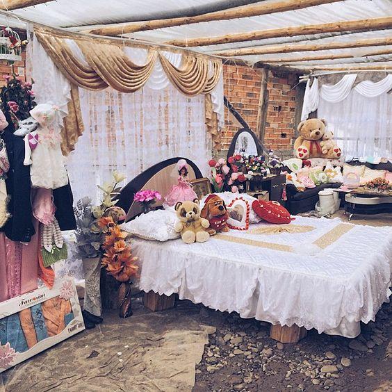 Bulgarian mountain wedding night bed study