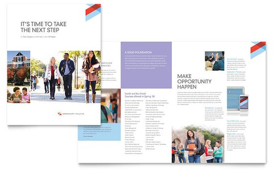 Brosur Sekolah - College \ University Brochure Template Design - university brochure template