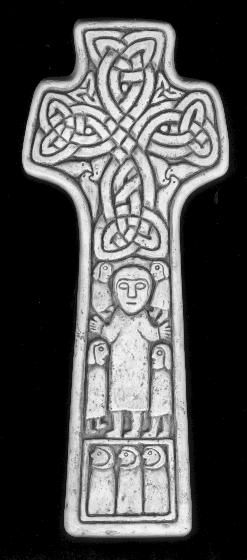 The ancient Irish cross from Carndonagh, Cty. Donegal, shows Christ in Majesty and pilgrims beneath interlace woven as the Tree of Life.  The knotwork was traditionally a protection device and is similar to the St. Brigid's crosses woven out of rushes.  Patrick is one of the patron saints of Ireland.  A native Briton, he was captured and served as a slave in the western part of Ireland.  After his escape from slavery, he returned to his native Britain, returning to Ireland after being told…