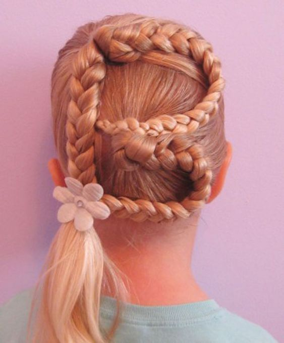 Pleasing Kid Hairstyles Simple Braids And Hairstyles For Girls On Pinterest Hairstyle Inspiration Daily Dogsangcom
