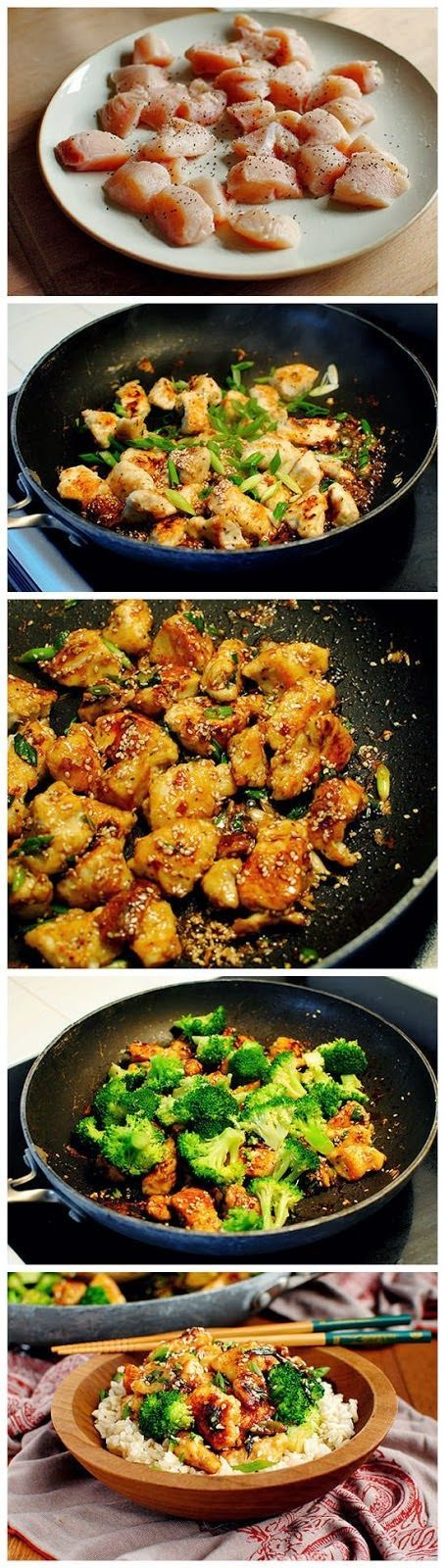 Made it & LOVED IT!!! Lighter Sesame Chicken (broccoli, green onion ...