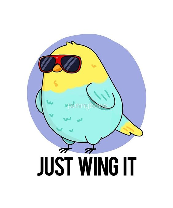 """Wing It Animal Pun"" by punnybone 