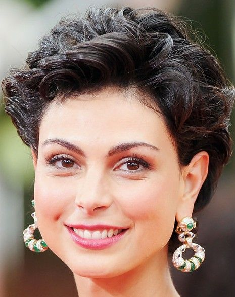 Awesome Short Curly Hairstyles Curly Hairstyles And Morena Baccarin On Hairstyles For Women Draintrainus