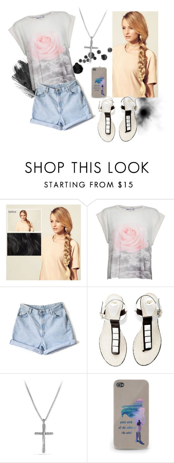 """1st Day of School"" by legandrlm ❤ liked on Polyvore featuring Hershesons, Wildfox and David Yurman"