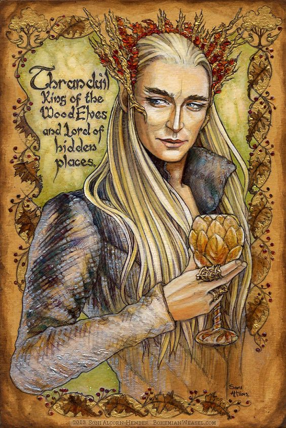 Hobbit Illumination: Thranduil, by Soni Alcorn-Hender.: