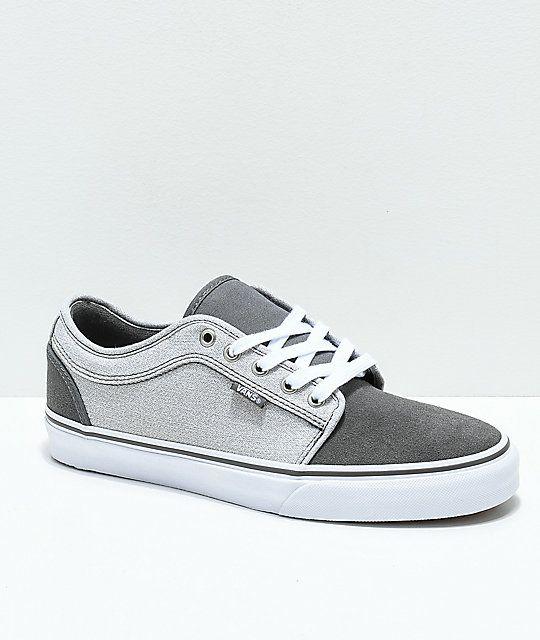 vans chukka low pro pewter & gum skate shoes