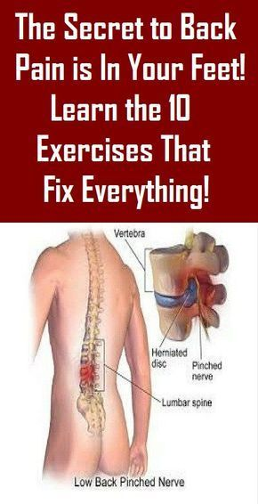 The Secret to Back Pain is In Your Feet! Learn the 10 Exercises That Fix Everything!