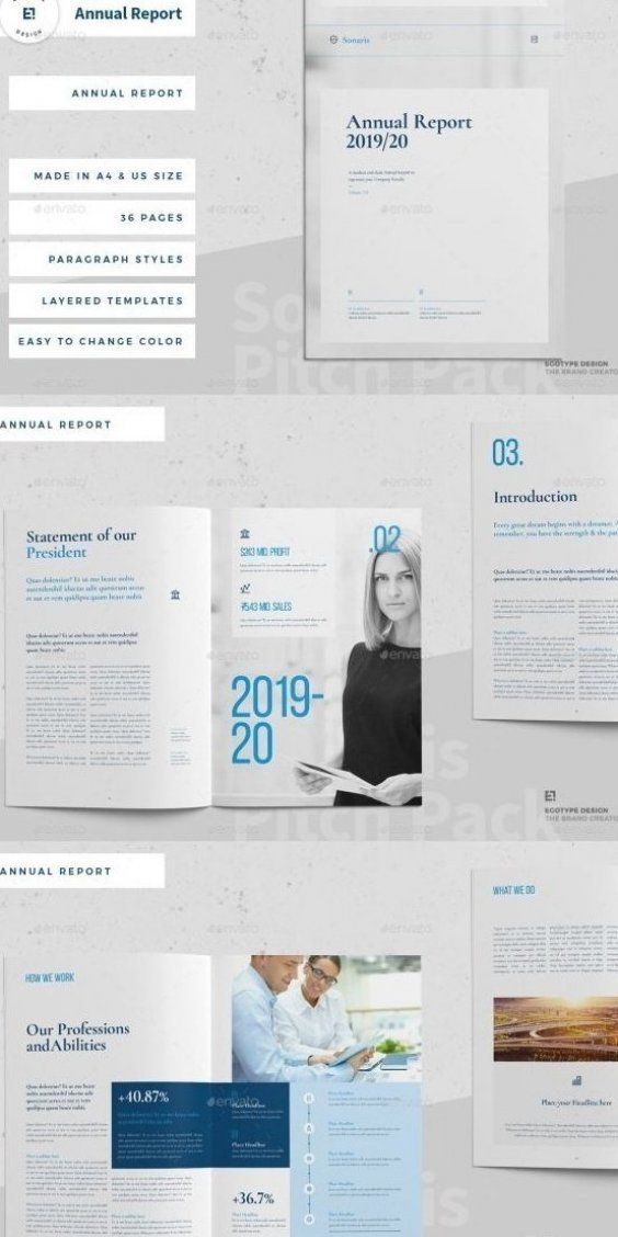 40 Annual Report Templates For Adobe Indesign In 2020 Annual Report Layout Annual Report Design Report Layout