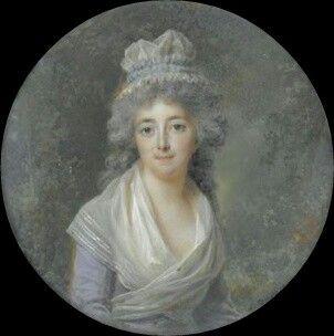 Portrait de  Madame Lescot,  vers 1790 Lié Louis Périn Salbreux