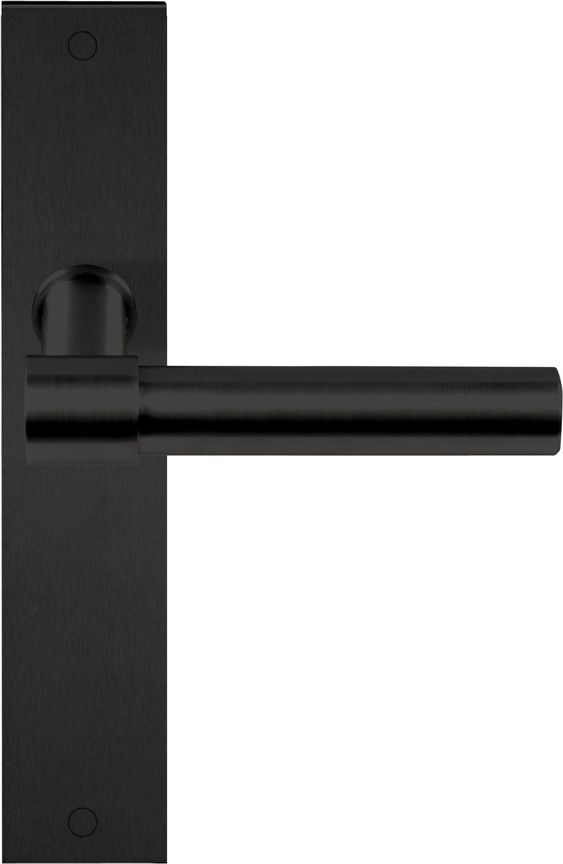Stainless steel door handle on back plate ONE Series by FORMANI® | design Piet Boon