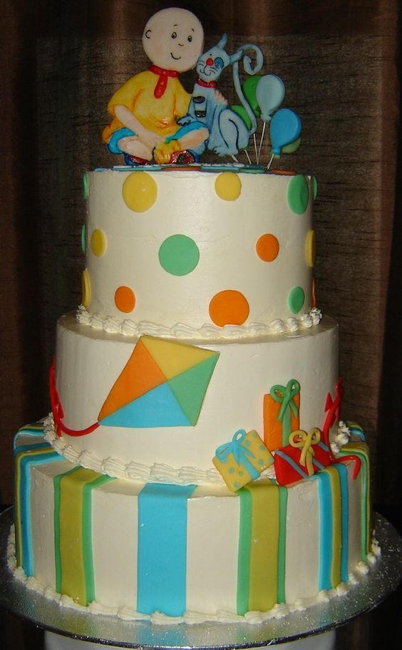 Birthday Cake Live Images ~ Caillou birthday party live around the cake turning repins crocodilecaillou