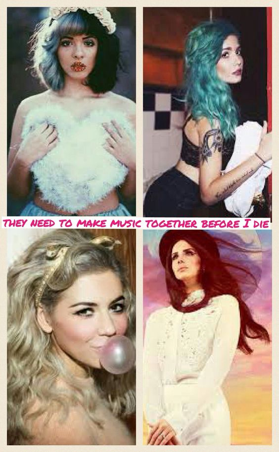 Pinterest: @kiki02pink ♡  I actually really don't want them to -- their sounds would not blend well, except maybe Halsey and Marina, since they're both very pop.