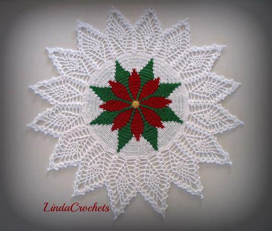 Free Crochet Pattern Christmas Doily : Free Crochet Christmas Doily Patterns ... crocheting ...