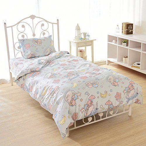 New Little Twin Stars Bed Covering 3 Piece Set Sanrio Kiki Lala Kawaii Japan Fs Sanrio Sanrio Bedroom Star Bedding Cute Furniture Twin bed sets for sale